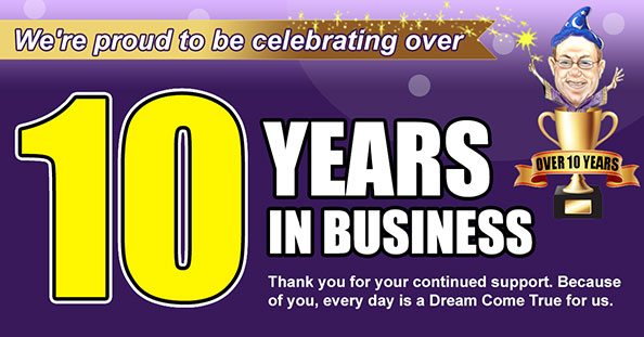 Celebrating over 10 Years in Business