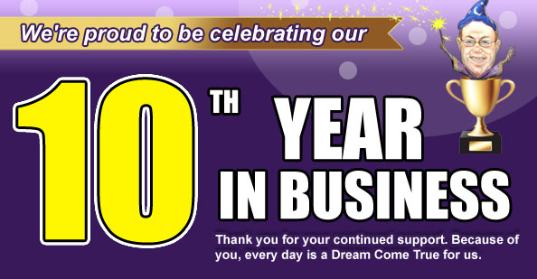 Celebrating our 10th Year in Business