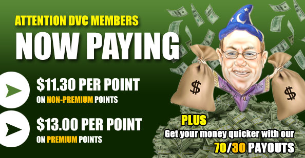 DVC Members now paying 70-30 split