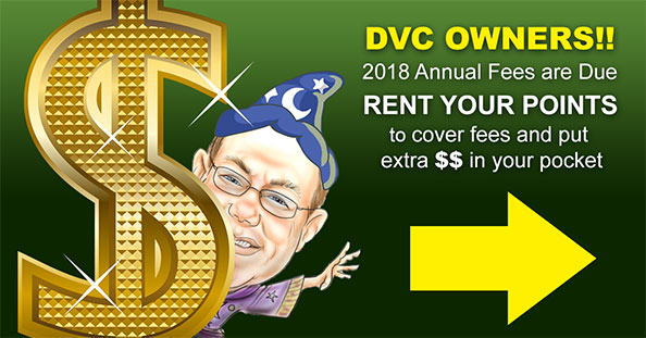 DVC Owners Annual Fees Due