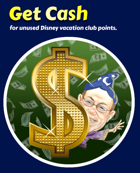 David Dollar Sign Cash for DVC Points