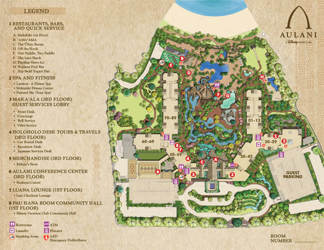 Aulani Map