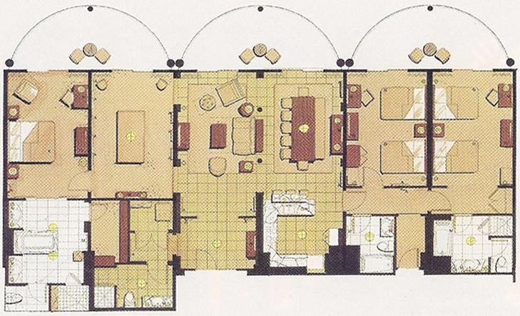 Disney 39 s animal kingdom villas at jambo house dvc rentals for Animal kingdom 2 bedroom villa floor plan