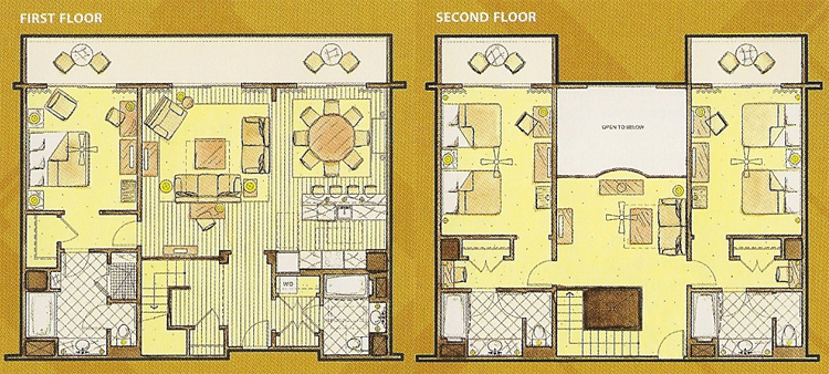 Disney 39 s animal kingdom villas at kidani village dvc rentals for Animal kingdom 2 bedroom villa floor plan
