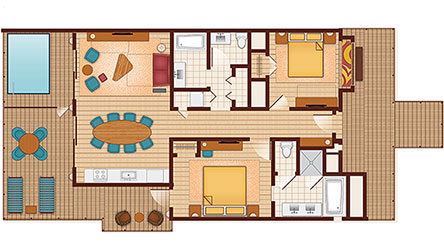 Polynesian Bungalow Room Layout