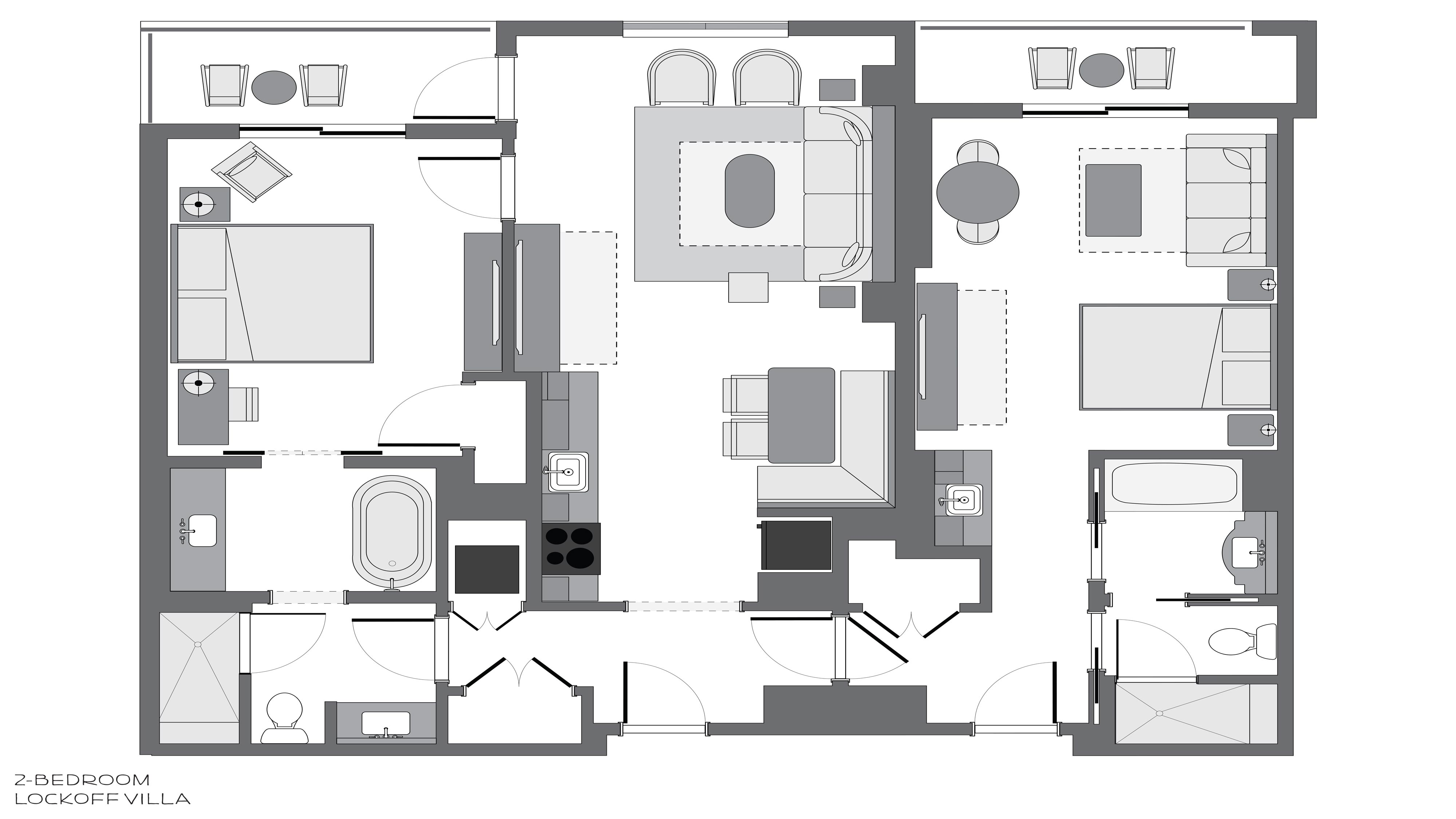 Riviera 2-Bedroom Villa Room Layout