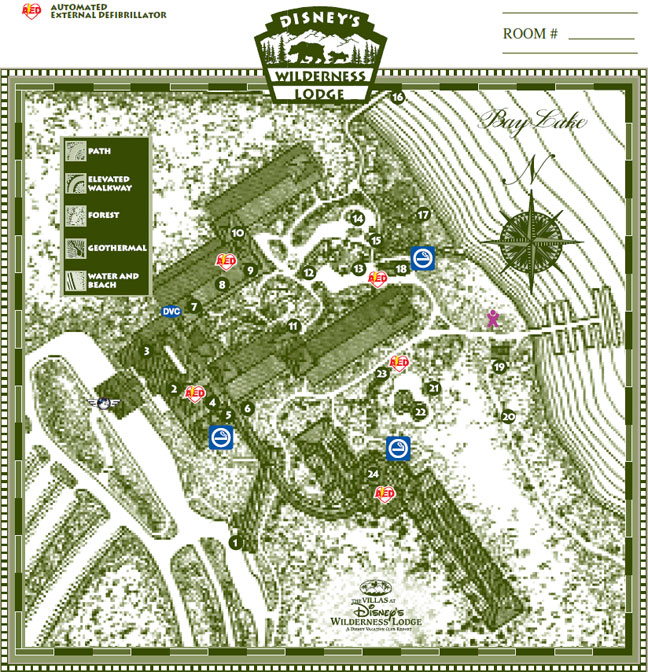 The Villas at Disney's Wilderness Lodge Map