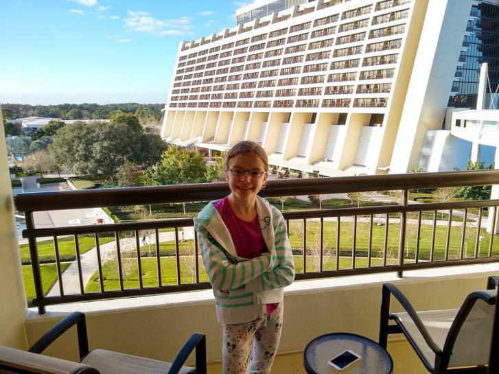 Guest Photo from Russ Williston: Guest on walkway near the Contemporary Resort