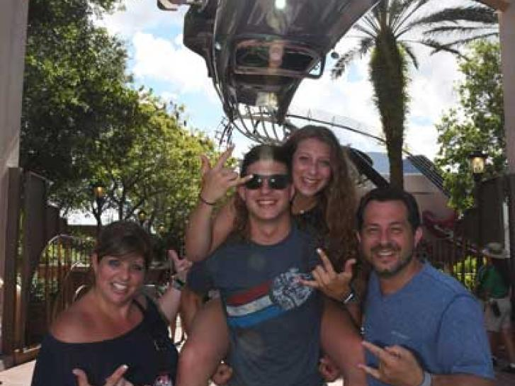 Guest Photo from Kim Castiglione: Guests outside Rock n' Roller Coaster at Disney's Hollywood Studios