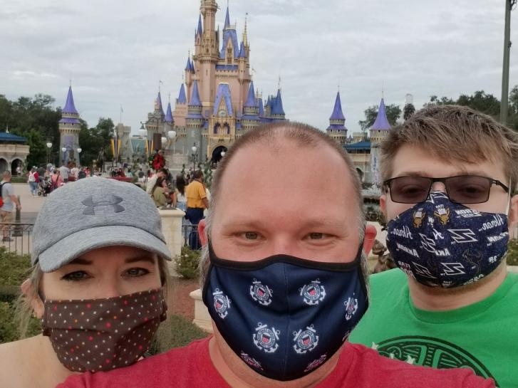 Guest Photo from Brian Schettler: Guests in front of Cinderella Castle at the Magic Kingdom