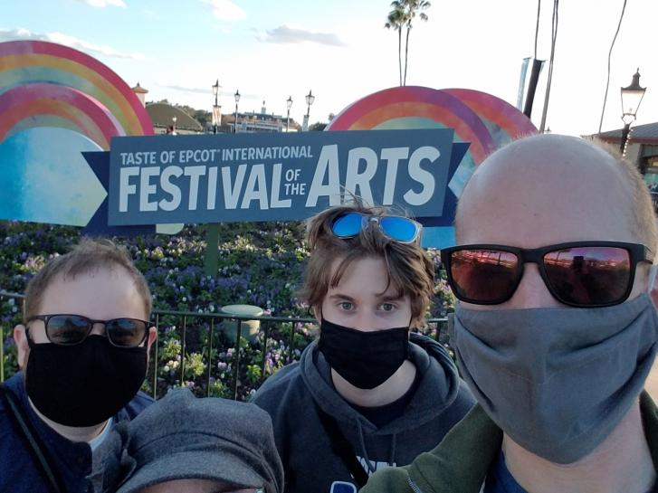 Guest Photo from Jared Evans: Guests at Epcot Festival of the Arts