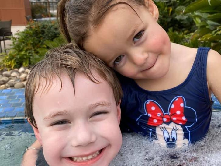 Guest Photo from Chris Vincent: Guests in the pool at a Disney resort
