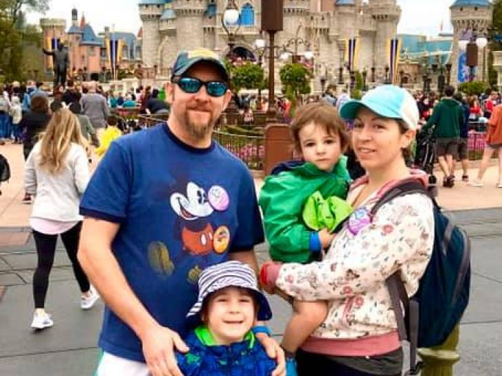 Guest Photo from Kristal & Ian Gilroy: Guests in front of Cinderella Castle at the Magic Kingdom