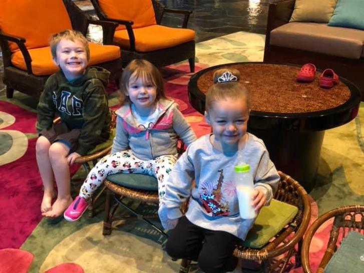 Guest Photo from Chris Vincent: Guests in the lobby of the Polynesian resort